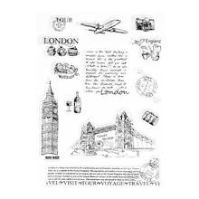 Башня Лондона прозрачный силиконовый прозрачный штамп цепляется дневник DIY Скрапбукинг