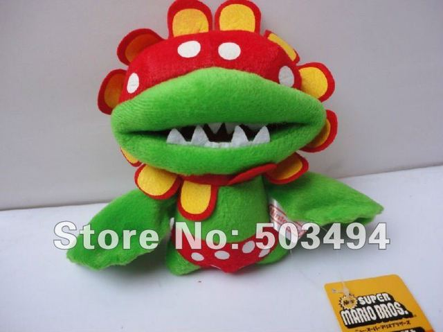 "New Super Mario Piranha 6.5"" Plush Doll Toy Baby Flowers Figures EMS Free Shipping"