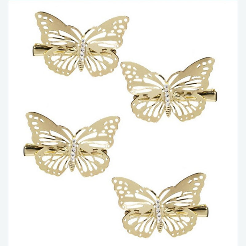6Pcs Hair Jewelry Accessories Girls Headwear Shiny Golden Hair Clips Grips Hairclips Hairpins Barrette Clamps Hair Styling Tools