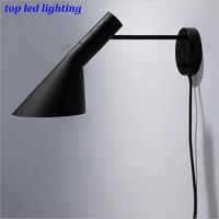 Louis Poulsen Arne Jacobsen AJ Wall Lamps for Aisle Bedroom Living Room Modern Fashion Aluminum Led E27 Wall Lights 1163
