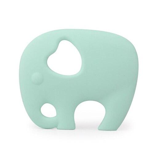 Прищепка для соски цепь силиконовый держатель пустышка Прорезыватель Соска с пищевой силиконовой соской для кормления младенцев BNZ20 - Цвет: Mint Green