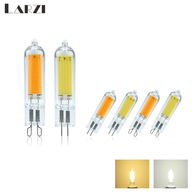 LED Light Bulbs G4 G9 Dimmable 6W 9W COB Glass LED Lamps Replace 40W 60W Halogen Bulb For Pendant Lighting Fixture Chandeliers