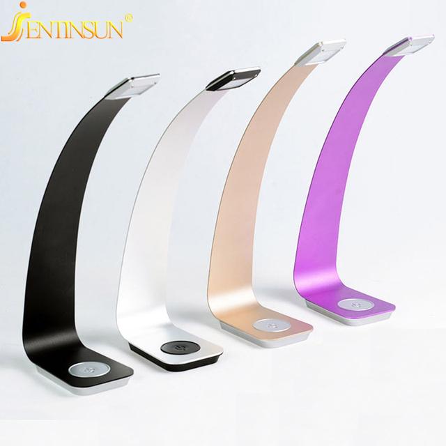 Moderno Escurecimento Toque lâmpada de Mesa Lâmpada de Leitura Proteção Para Os Olhos Luz Da Noite USB Recarregável Luz CONDUZIU a Lâmpada de Mesa para o Quarto Estudo