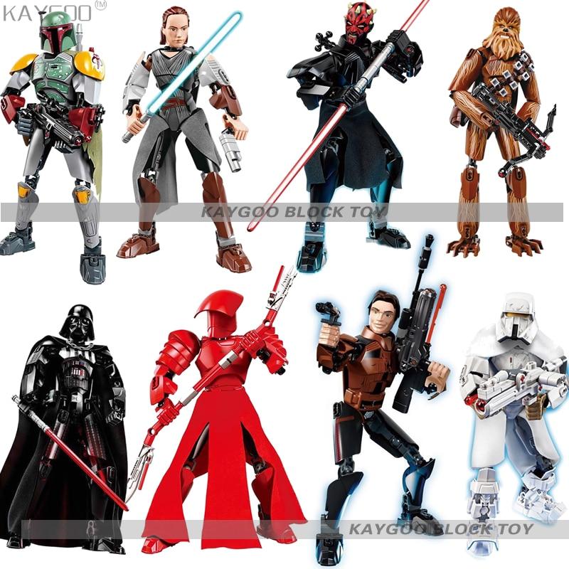 Star Wars Action Toys Building Block Toy Gift Han Solo Darth Vader Luke Kylo Ren
