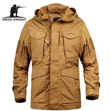 Mege Brand Men taktyczne Odzież US Army M65 Military Field kurtka Trench płaszcze Bluza z kapturem Casaco męski wiatrówka jesień tanie tanio Mężczyzn Wykopu Mężczyźni Wiatrówka Kołnierz skrętu Regularne Poliester bawełna Standardowych RYCERZ MEGE Styl safari
