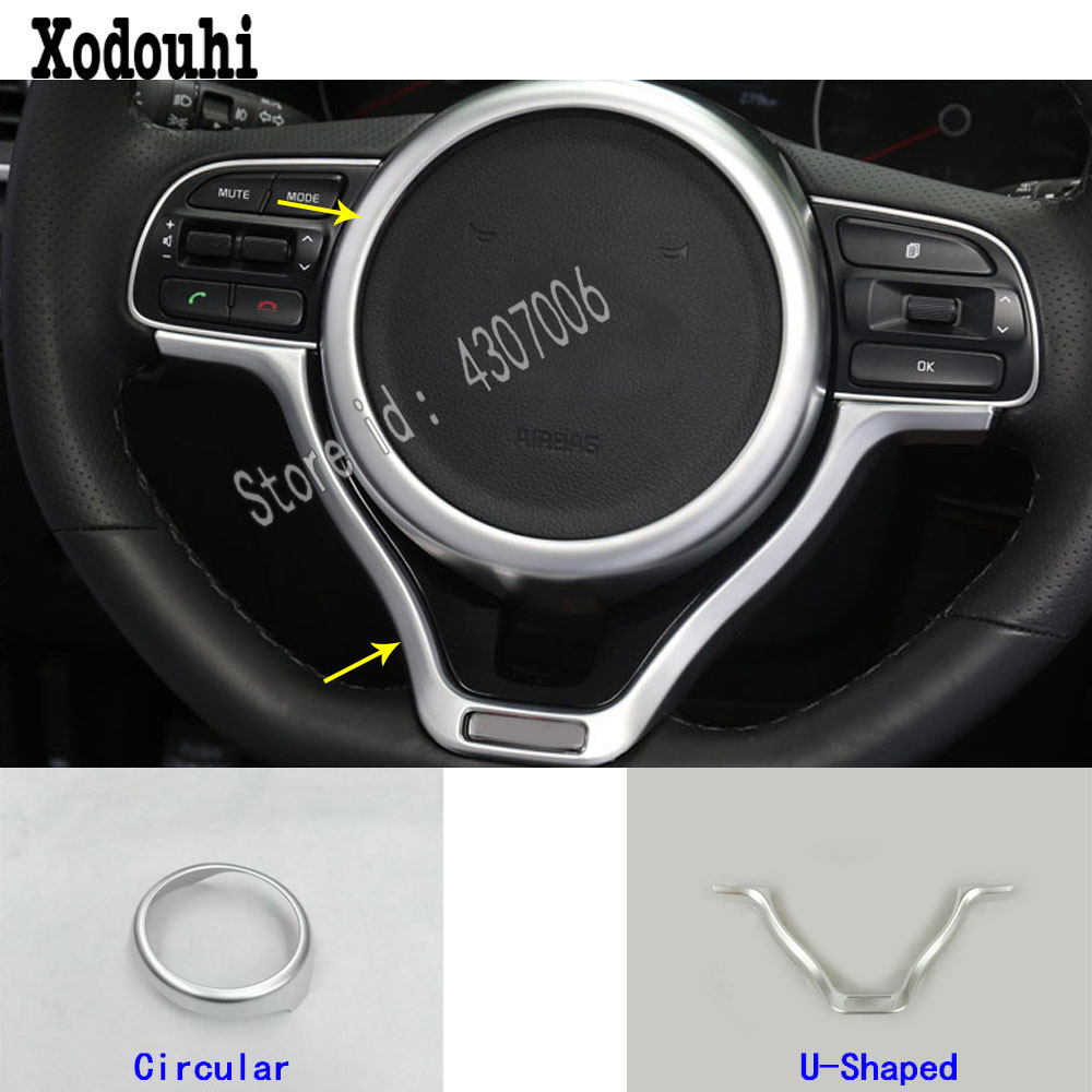 for Kia Sportage KX5 2016 2017 2018 car sticker detector body styling Steering wheel Interior Kit Trim lamp frame parts hood
