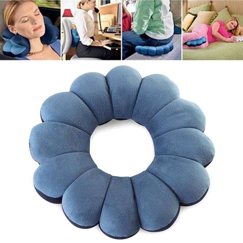 2019 New Total Pillow Cervical Massage Plum Neck Pillow Outdoor Sports Car Decration Travel Twist Flower Shape Pillow