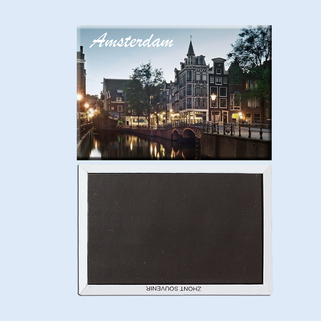 Netherlands Travel souvenirs Amsterdam channel lantern reflection 22754  Creative refrigerator