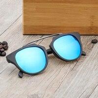 New wood grain plate sunglasses fashion retro sunglasses men and women with the same paragraph polarized sunglasses