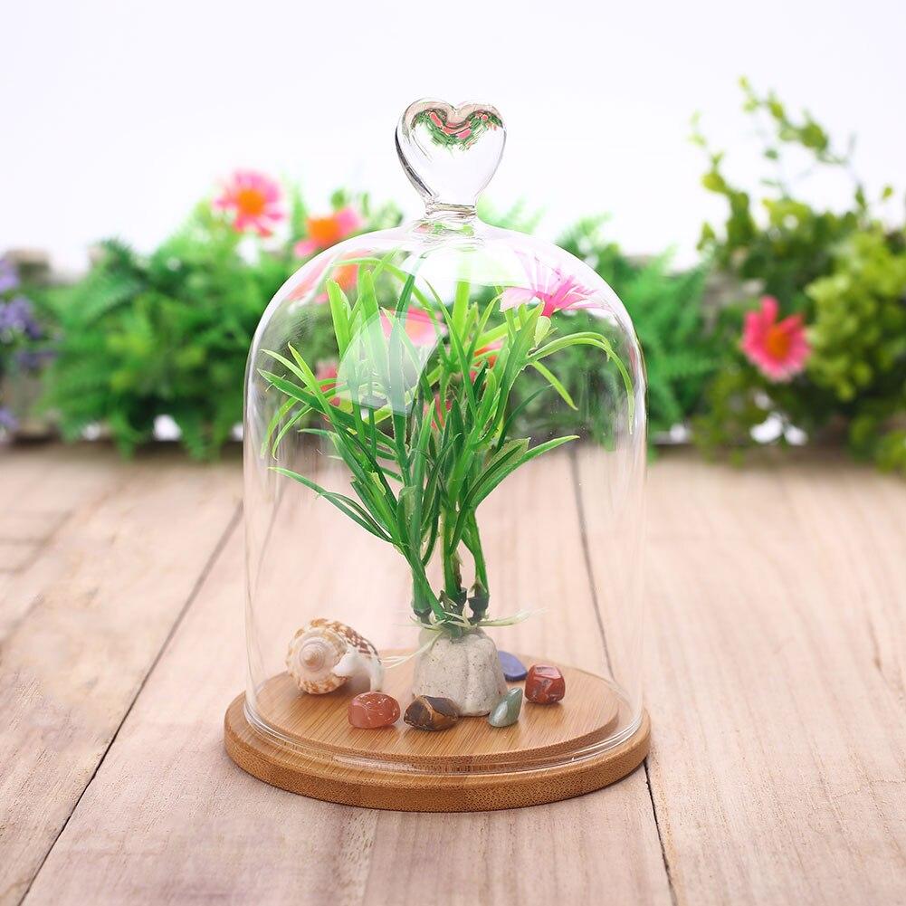 DIY подарок Сердце Медведь День Святого Валентина Роза стеклянная крышка подарок Цветочный декор Творческий Опора сохранены свежий цветок орнамент
