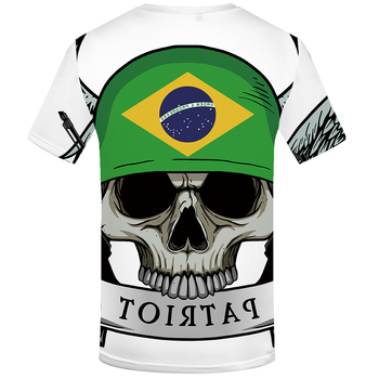 White Brazilian Flag T Shirt