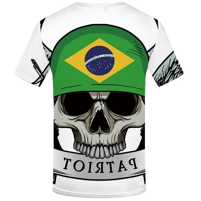 White Brazilian Flag T Shirt