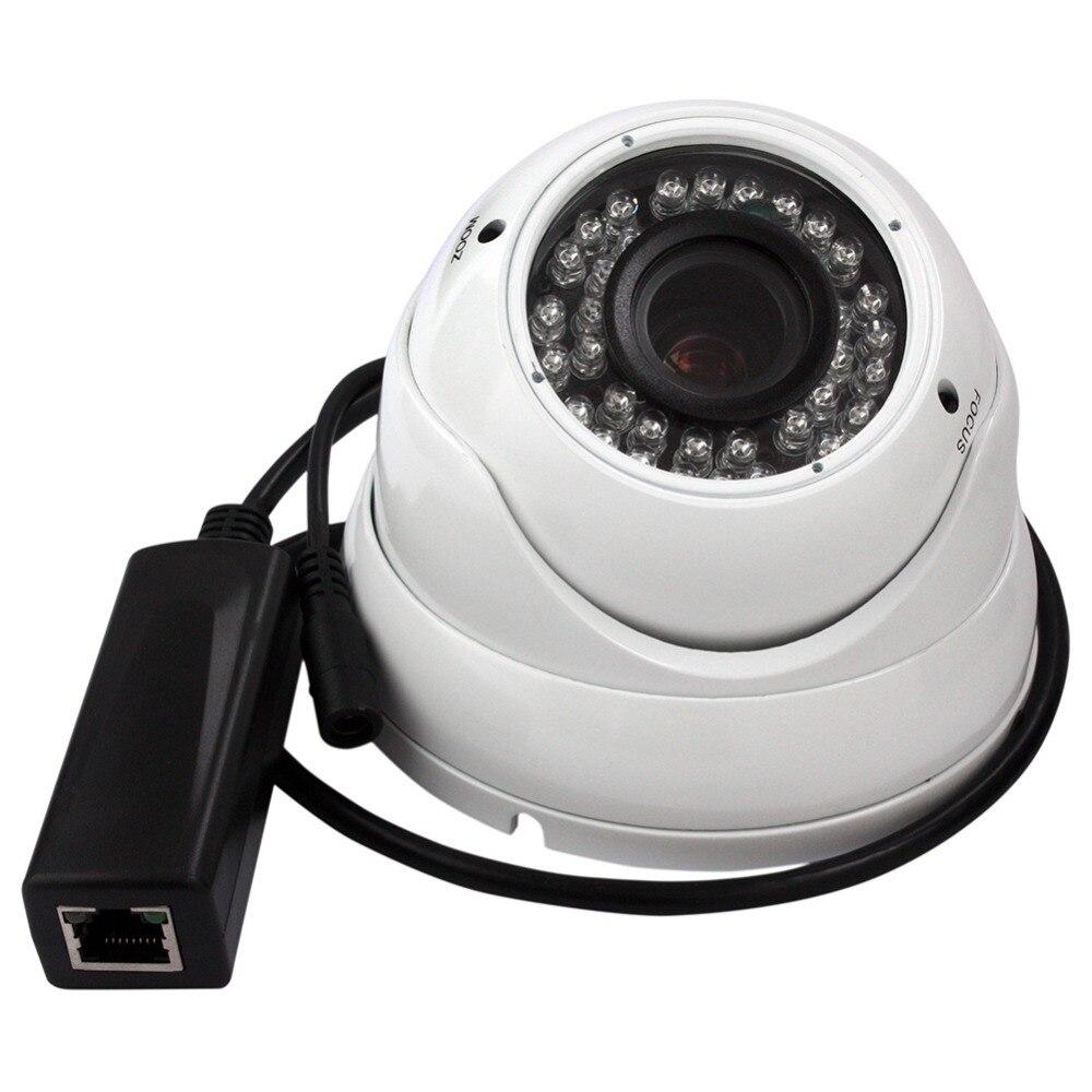 Full HD 1080p варифокальный купольная ip-камера 2MP POE с 2,8-12 мм варифокальный объектив для наружной влагозащищенной безопасности