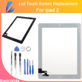 LL TRADER High Quality Replacement Parts Glass For iPad 2 Digitizer Touch Screen+ Adhesive Glue Tape With Button Black & White
