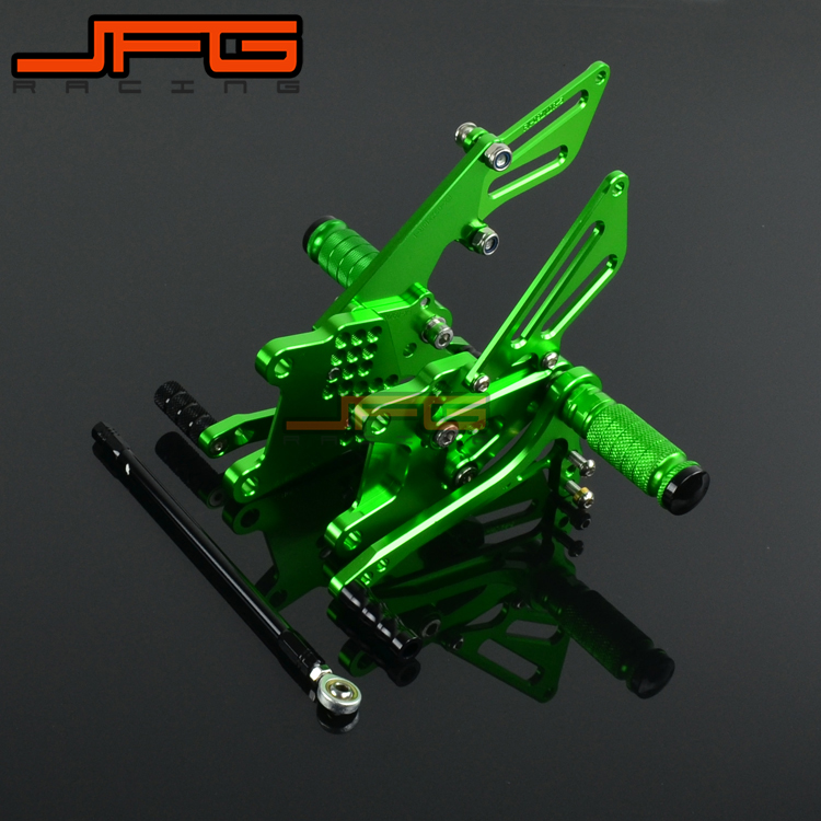 Motorcycle CNC Adjustable Foot Pegs Pedals Rest Rearset Footpegs For KAWASAKI ZX10R ZX-10R 2006-2010 2006 2007 2008 2009 2010