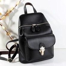 2017 Новый женский рюкзак черный сумка книги мешок повседневная леди pu кожаная сумка ежедневно back pack