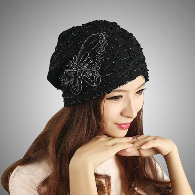 women's winter hat butterfly lace bow style knitted hat the female of the mink pom poms hats for women Gorros beanies 2017 of the latest fashion have a lovely the hat of the ear lovely naughty lady s hat women s warm and beautiful style