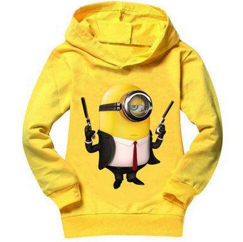 2017 Baby boys long sleeve t shirts despicable me minion children t shirts autumn spring kids clothes cartoon girl clothing tops