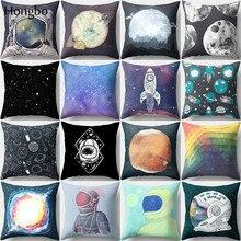 Hongbo 1 Pcs Astronaut Star Geometric  Pillow Case Sofa Cushion Cover Square Decorative Christmas Decorations