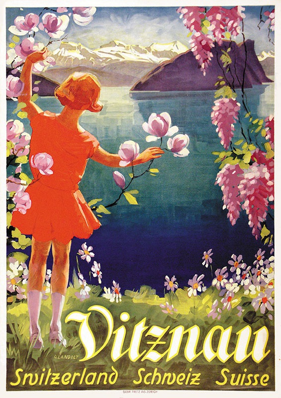 Vintage Lucerne Switzerland Tourism Poster A3//A4 Print