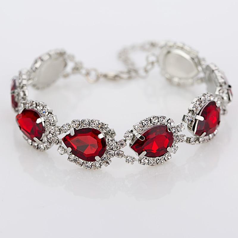 Bangles Bracelets Rhinestone Crystal Silver Super-Shiny Ladies New-Arrival Link-Chain