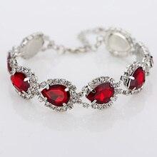 Свадебные браслеты и браслеты новое поступление полная звезда супер сияющие хрустальные стразы серебряные женские звенья цепи браслеты B016