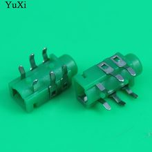 Yuxi 3.5 Mm Female Audio Konektor 4 Pin SMT Stereo Jack Telepon PJ208A(China)