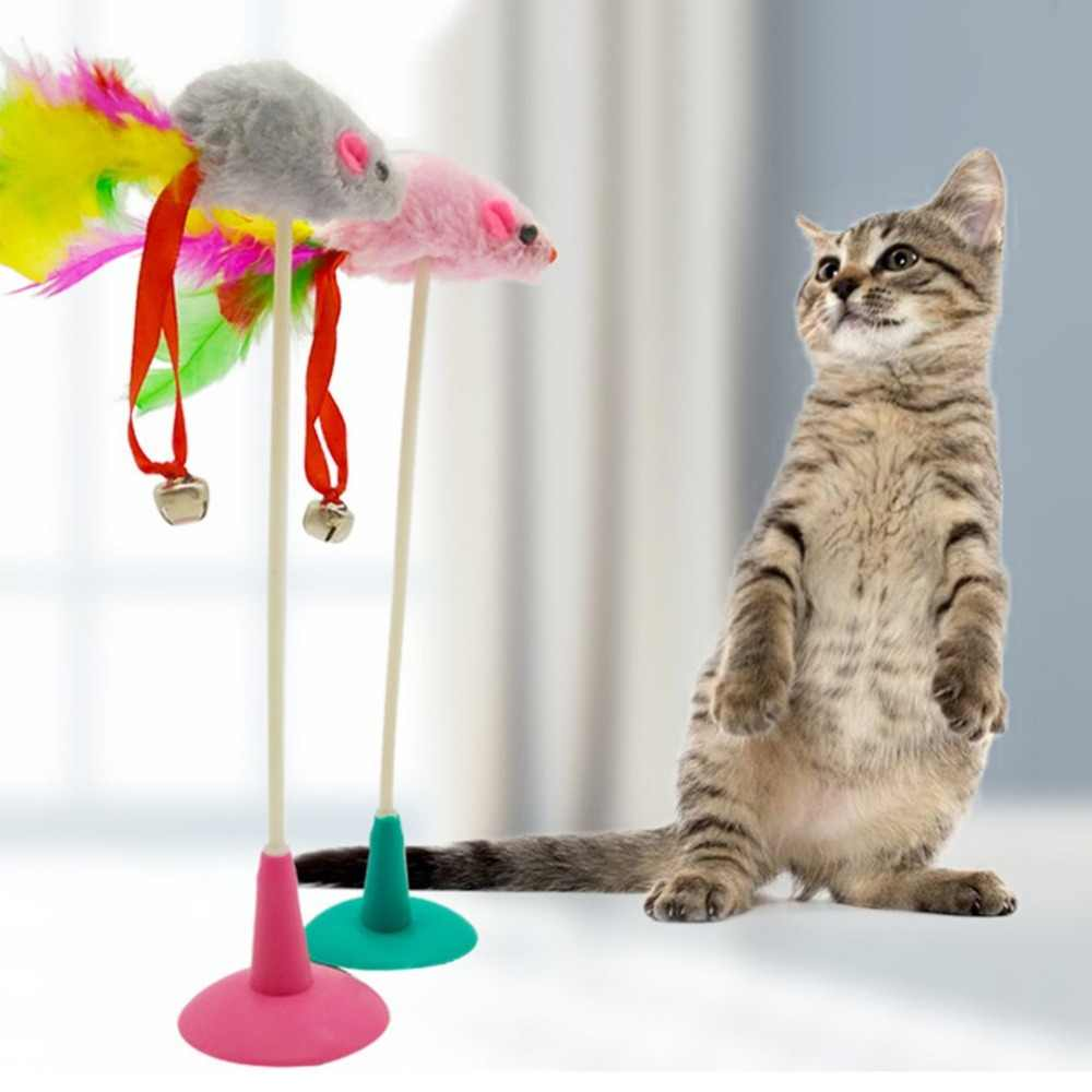 1 pcs נוצת False עכבר תחתון פרייר מצחיק חיות מחמד חתול צעצועי חתול חתלתול משחק צעצועים לחיות מחמד מושב שריטה צעצוע מוצרים לחתולים צעצוע