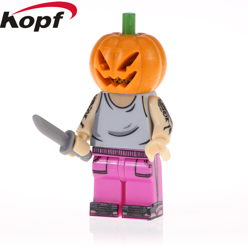 PG1446 Single Sale Pumpkin Cary Bricks Halloween Model Witch Figures Wild Gerff Building Blocks For Children Gift Best Toys
