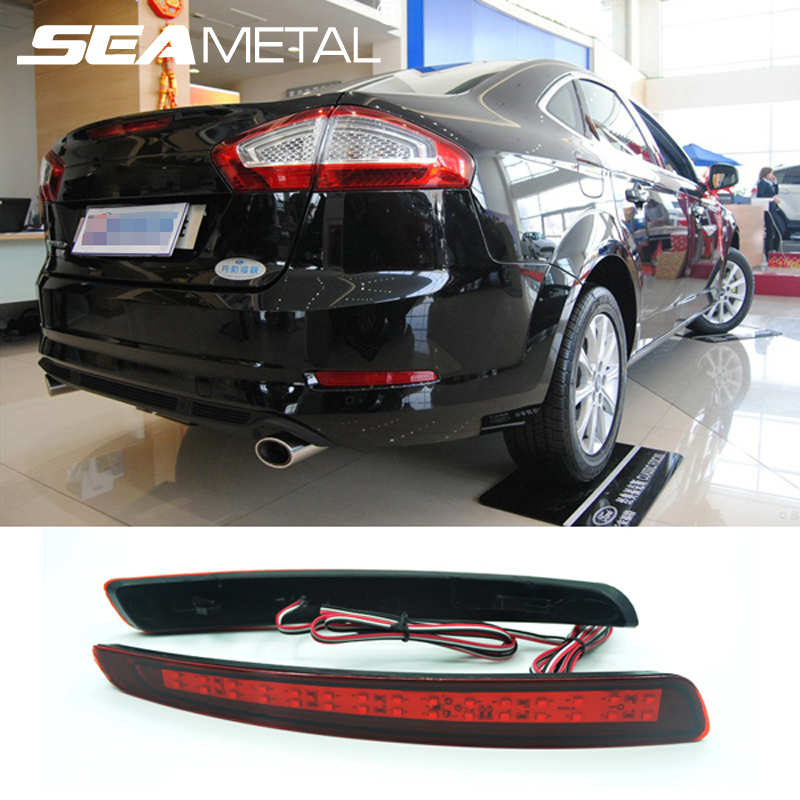 Car Rear Bumper lights For Ford Mondeo Fusion 4 Sedan 2011 2012 2013 Reflector Brake Light  Warning Light Auto accessories new car red tail rear bumper reflector lamp brake light rear fog lights for ford fiesta 2009 2010 2011 2012 2013 2014 hatchback
