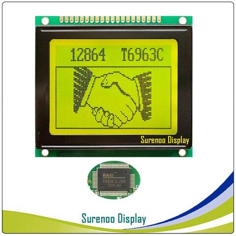 Controlador na Indústria Lcm com T6963c 78x70 mm 12864 128 Gráfico Matrix  Módulo Lcd Screen Display 64 e ra6963 Grau