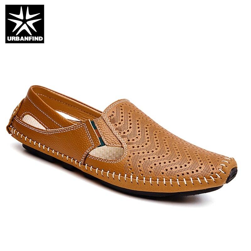 С/без полые Стиль модные Для мужчин кожа обувь для вождения плюс Размеры 45, 46, 47 Швейные Дизайн Для мужчин легкие мягкие лоферы