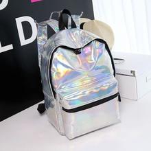Women Backpack Hologram Laser Backpacks