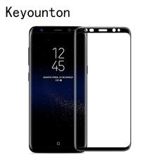 Eastion New Screen Protector Glass For Samsung Galaxy S8 Plus 5.8&6.2 inch 3D Full Cover Curved Side Tempered Protection Phone