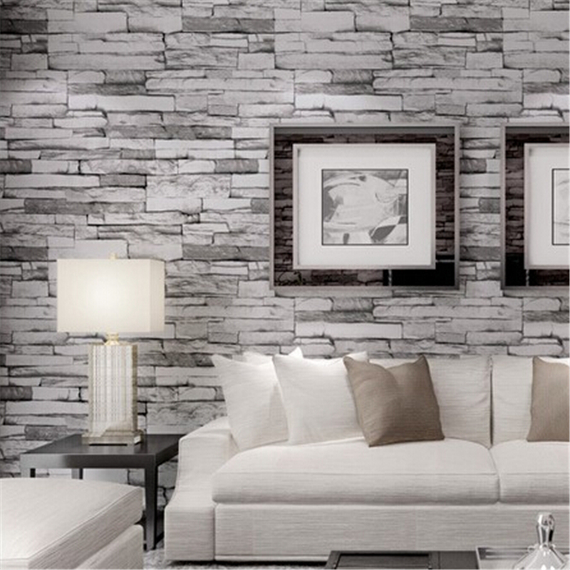 ФОТО beibehang  PVC Wood Stone Brick Wallpaper for walls 3 d Luxury Classic Vintage Living Room Background Wall Decor papel de parede
