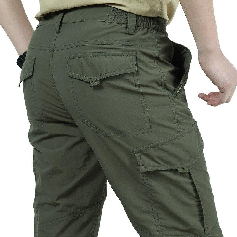 Mutter & Kinder Tactical Cargo Hosen Männer Military Swat Hosen Quick Dry Viele Taschen Jogginghose Sommer Beiläufige Lose Dünne Abnehmbare Hosen