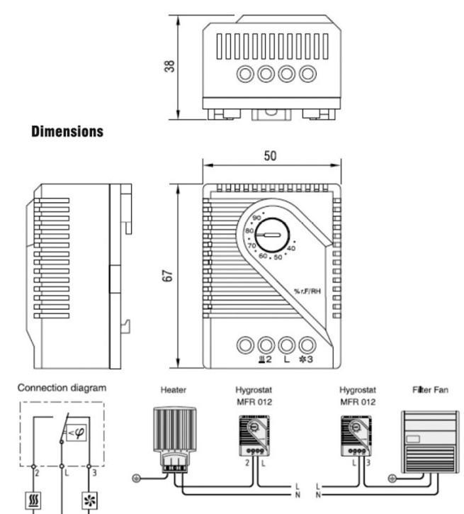 Kleine kompakte einstellbare temperaturregler ZR011, dual thermostat ...