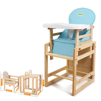 Multifunctional Table and Chair for Kids,Baby Feeding Seat Chair Wood,Infant Baby Dinning Rocking Chair Bebek Mama Sandalyesi