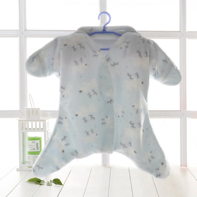 New Baby starfish autumn sleeping bag baby anti Tipi children sleeping bags flannel outfits super soft high quality baby swaddle