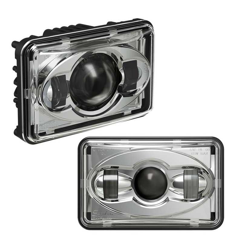 Off road 4x6 Inch Square Led Headlight For Truck Bus car accessories