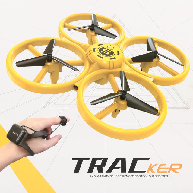 Mini Quadcopter Induction Drone Smart Watch Remote Sensing Gesture RC Aircraft UFO Somatosensory Noctilucent Interaction Drone