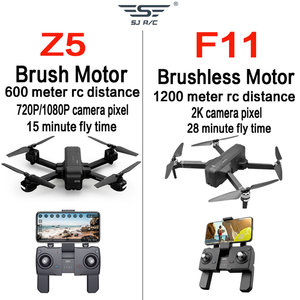 Image 4 - OTPRO صغيرة بدون طيار WIFI FPV مع 4K 1080P كاميرا 3 محور Gimbal GPS RC سباق Drone Quadcopter RTF مع الارسال Z5 F11 برو DRON
