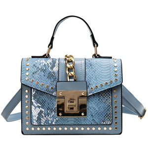 Image 2 - 2020 Design Handbags High Quality Ladies Shoulder Women PU Leather Zip Lock Small Chains  Flap Bags