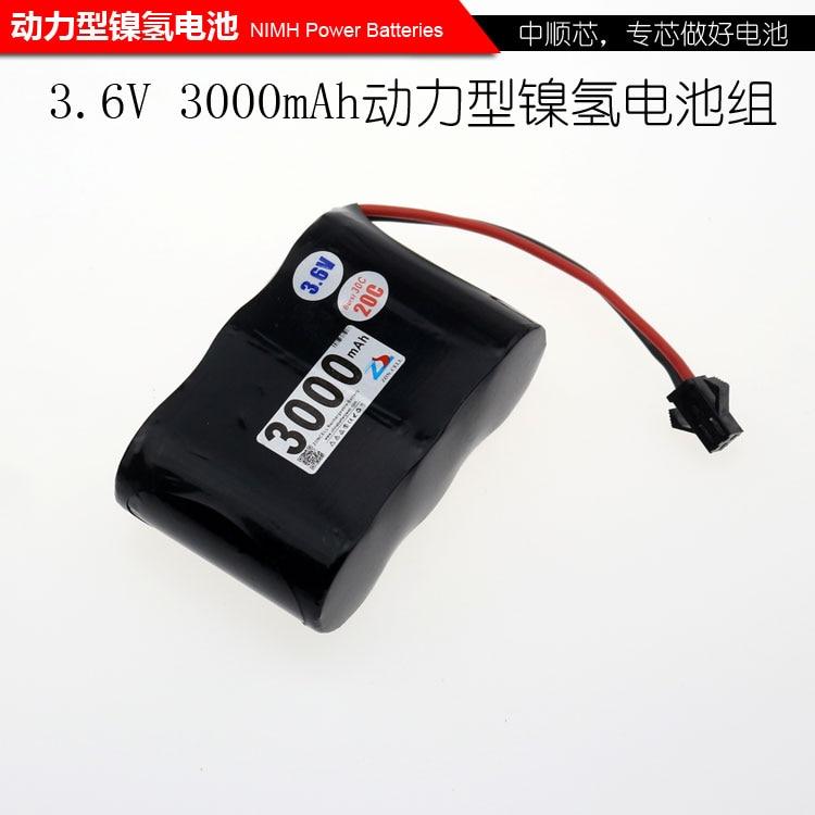 Shenzhen technologie 3.6 V Ni MH batterie SC 3000 mah rechargeable batteries POUR aspirateur Robot/LED éclairage/d'avions de contrôle