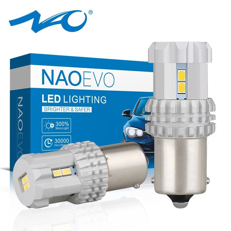 NAO Light-Bulbs Signal-Lamp Ba15s Amber P21w 1156 Automotive-Turn 12V for 6000k Red 3020