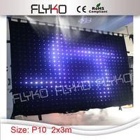 Wholesales led curtain high quality led video cloth 2*3M ,led vision curtain stage screen
