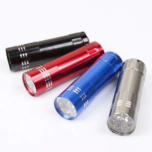Wholesale 9 LED Camping Hiking Torch Lamp Light Flashlight