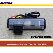 Car Rear Reverse Camera For Mitsubishi Pajero Sport/Pajero Dark 2008-2013 2014 2015 Back Up Rearview Parking Camera HD CCD CAM liandlee car tracing cauda laser light for mitsubishi pajero sport pajero dark 2008 2015 anti fog lamps rear lights