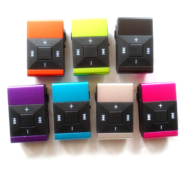 2013 newest design high quality TF card player + earphone + USB cable mp3 music player with clip support up to 8GB