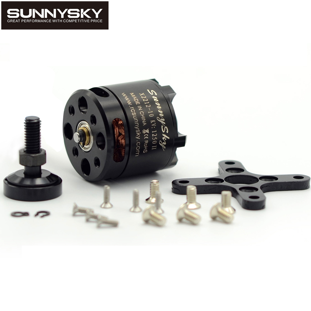 1 unids 100% original sunnysky X2212 980KV/1250KV/KV1400/2450KV brushless motor (eje corto) quad-hexa helicóptero